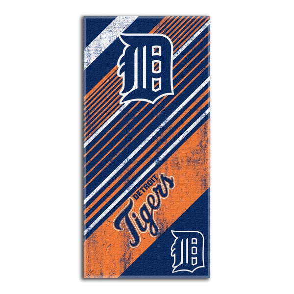 MLB 911 Tigers Diagonal Beach Towel