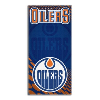 NHL 911 Oilers Emblem Beach Towel