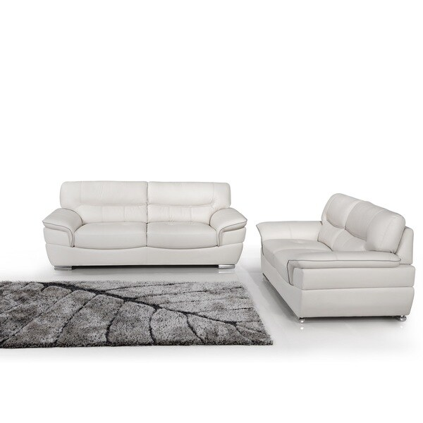 Calbeau Top Grain Leather Sofa and Love Seat