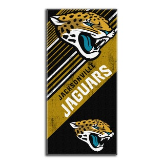 NFL 911 Jaguars Diagonal Beach Towel