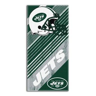 NFL 911 Jets Diagonal Beach Towel