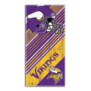 NFL 911 Vikings Diagonal Beach Towel