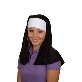 Adult Black and White Costume Nun Hat