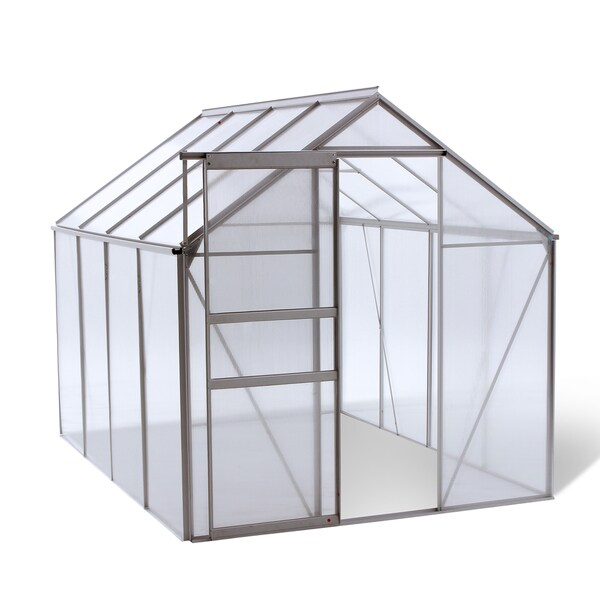 oGrow® WALK-IN 6' X 8' Lawn and Garden Greenhouse with Heavy Duty Aluminum Frame 15068548
