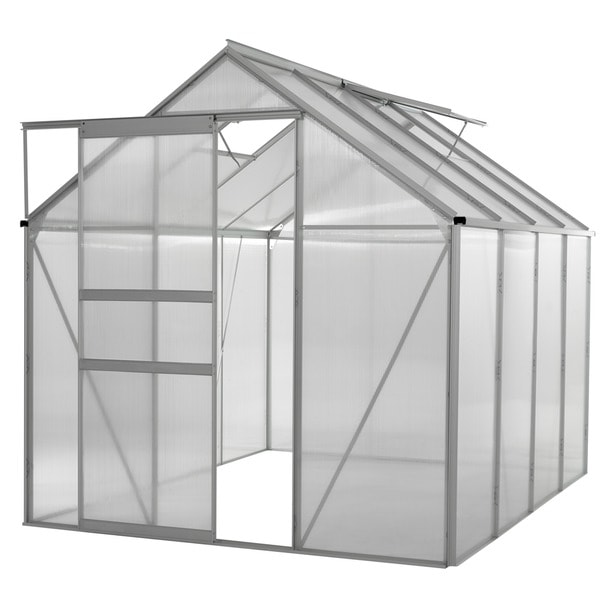 oGrow WALK-IN 6' X 8' Lawn and Garden Greenhouse with Heavy Duty Aluminum Frame 15068548
