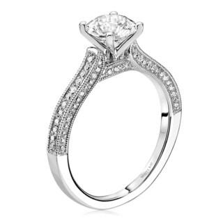 Scott Kay 14k White Gold 1/3ct TDW Diamond Semi Mount Engagement Ring (G-H, VS2)