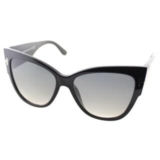 Tom Ford Anoushka Womens TF 371 01B Cat-Eye Sunglasses