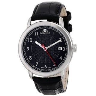 88 Rue du Rhone Men's 87WA120030 'Double 8 Origin' Swiss Quartz Black Leather Watch