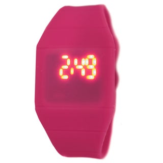 LED Kid's Pink Rubber Digital Watch