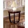 Furniture of America Curve Dark Cherry End Table