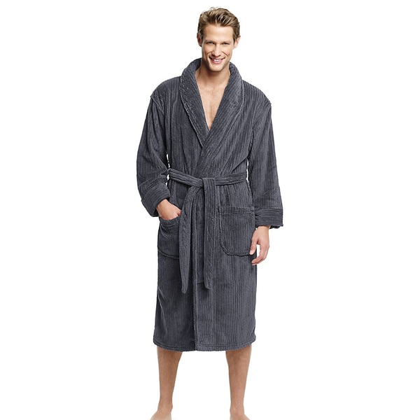 Hanes Men's Soft Touch Microfleece Robe