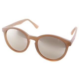 Isaac Mizrahi Womens IM 43 87 Matte Khaki Plastic Round Sunglasses