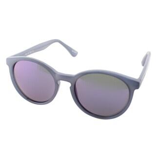 Isaac Mizrahi Womens IM 43 90 Matte Blue Plastic Round Sunglasses