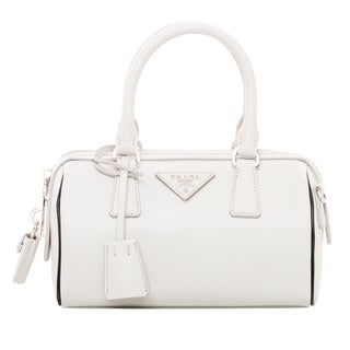 Prada Mini Saffiano Leather Top Handle Bag
