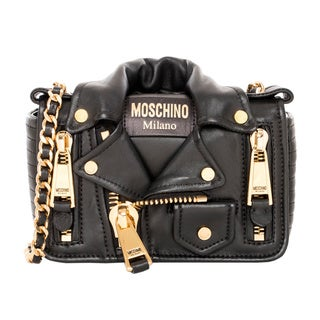 Moschino Small Leather Jacket Bag