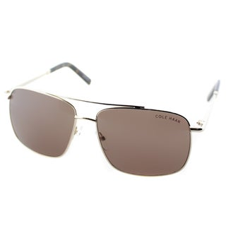 Cole Haan Mens C 745 61 Distressed Gold Metal Navigator Sunglasses