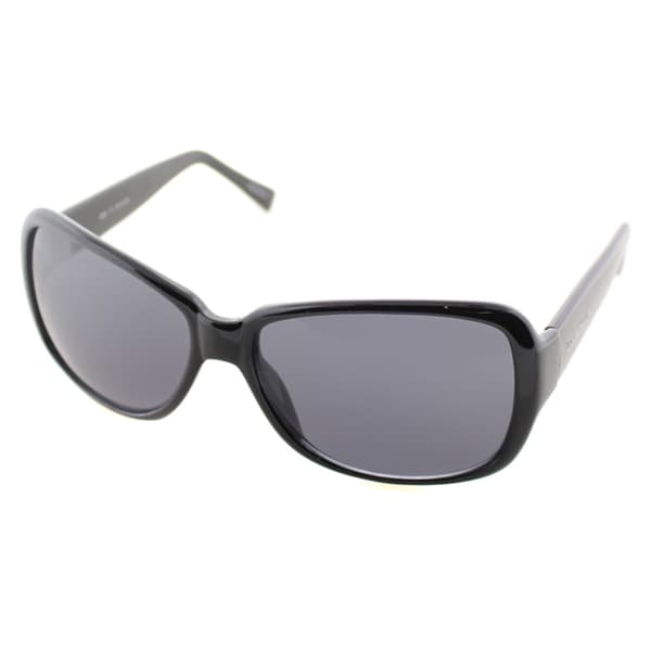 Cole Haan Womens C 630 10 Black Plastic Fashion Sunglasses