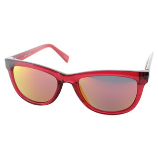 Cole Haan Womens C 6069 79 Tango Red Plastic Rectangle Sunglasses