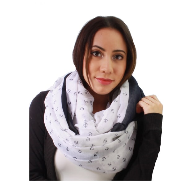 Le Nom Women's Small Anchor Infinity Scarf