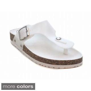 Blue Women's Fatia Cushioned Sandals