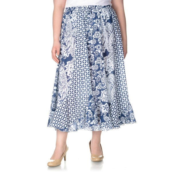 Original   WOMEN NEW LONG SKIRT COTTON SOLID GYPSY BOHEMIAN MAXI FULL LENGTH