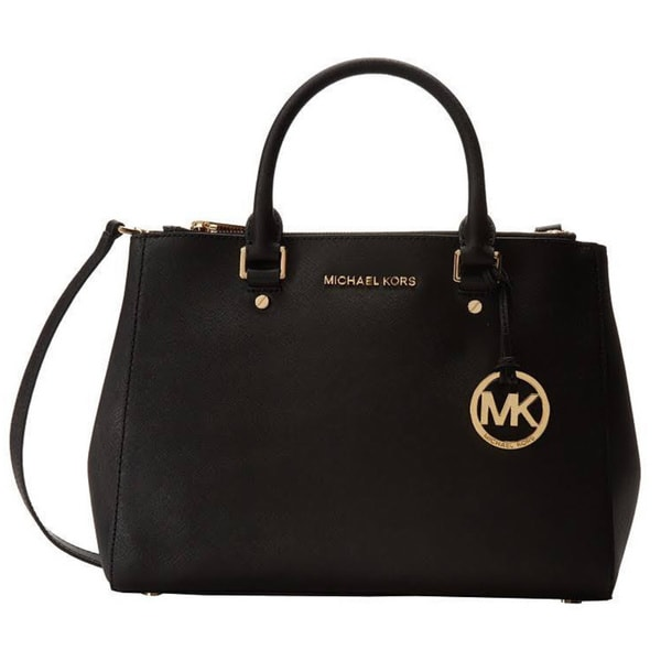 MICHAEL Michael Kors Black Sutton Medium Satchel
