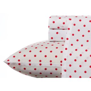 Teen Vogue Polka Dot Raspberry Wrinkle-Resistant Sheet Set