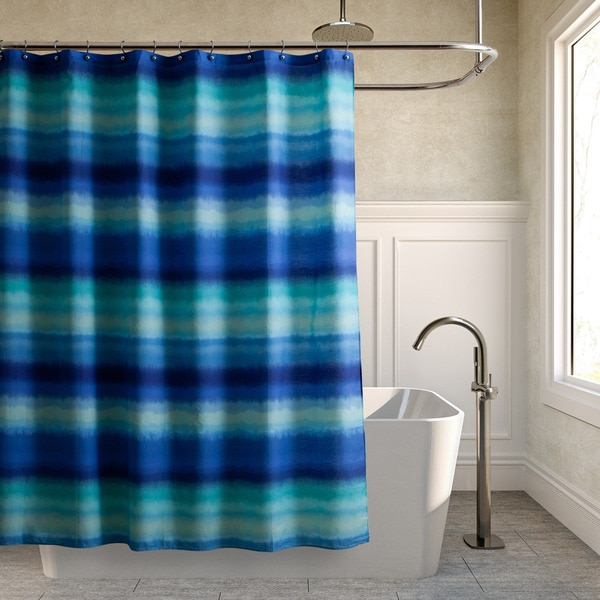 Teen Vogue Electric Beach Blue Shower Curtain