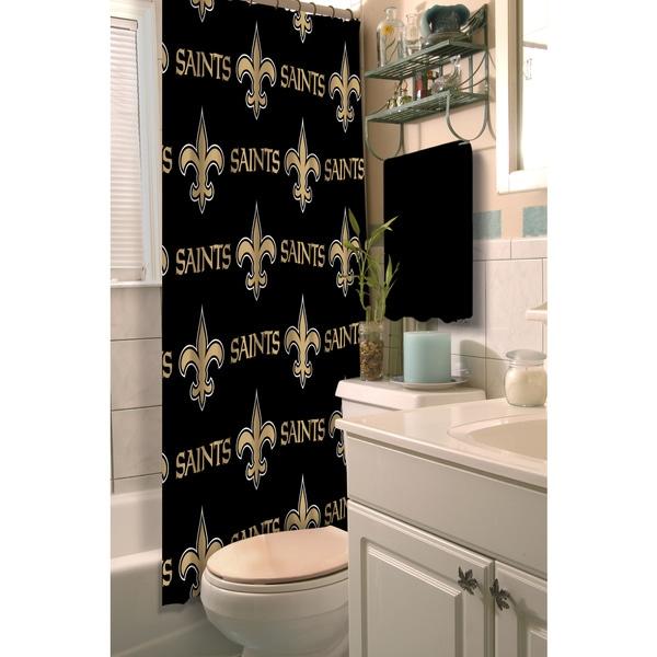 NFL Saints Shower Curtain