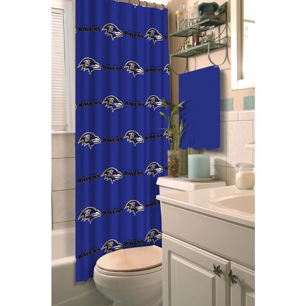 NFL Ravens Shower Curtain