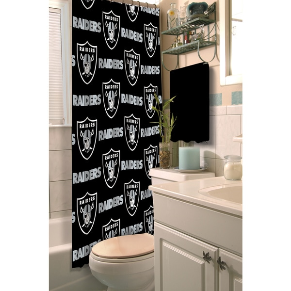 NFL Raiders Shower Curtain