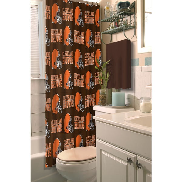 NFL Browns Shower Curtain