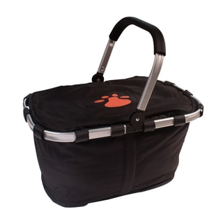 Petflect Picnic Cooler Basket with Orange Reflective Paw Print