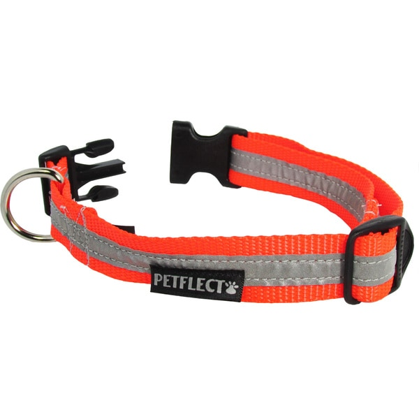 Petflect Fluorescent Orange Reflective Collar
