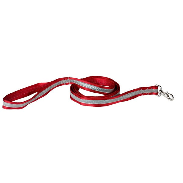 Petflect Radiant Red/ Silver Reflective AdventurePlay Leash