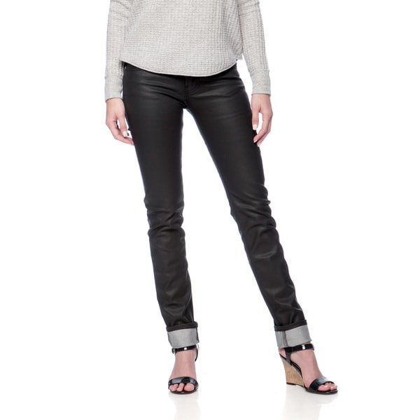 Andrew Charles Women's Rock Black Coated Skinny Jean
