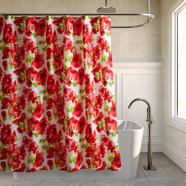 Teen Vogue Painted Poppy Shower Curtain