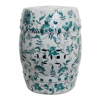 Evergreen Porcelain Garden Stool