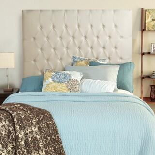 Humble + Haute Halifax Ivory Linen Tall Queen Diamond Tufted Upholstered Headboard