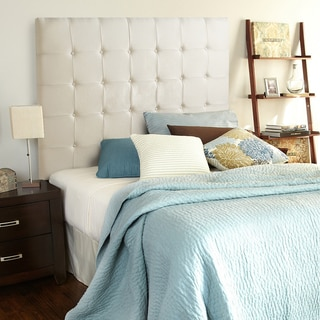 Humble + Haute Stratton Ivory Linen Tall Queen Tufted Upholstered Headboard