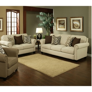 Furniture of America Bellissa Elegant Chenille 2-Piece Sofa Set