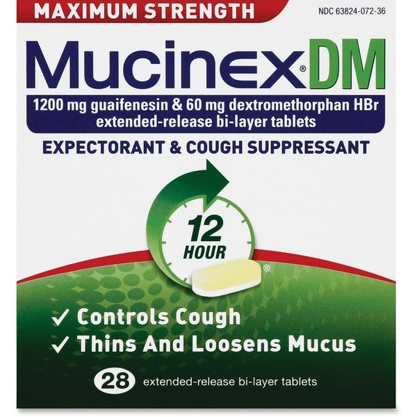 Reckitt Benckiser Mucinex DM Max Strength Tablets