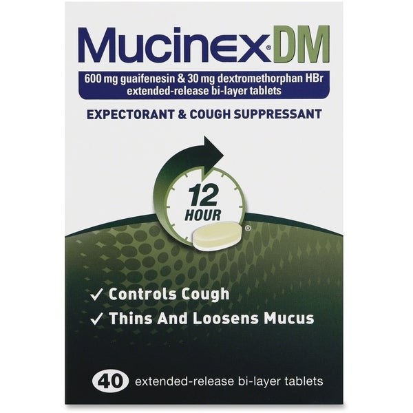 Reckitt Benckiser Mucinex DM Cough Tablets