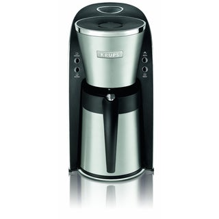 KRUPS KT720D50 Silver 10-Cup Thermal Carafe Coffee Maker with Permanent Filter and Stainless Steel Housing (Refurbished)