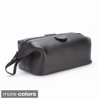 Royce Leather Genuine Leather Toiletry Travel Wash Bag