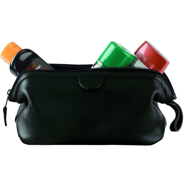 Royce Leather Executive Toiletry Travel Wash Bag