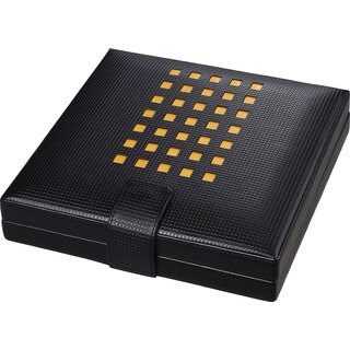 Visol Mod Black Leather Cigar Humidor (Holds 22 Cigars