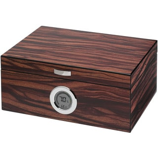 Visol Brawley Macassar Finish Cigar Humidor (Holds 75 Cigars)