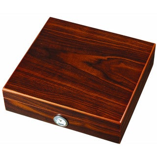 Visol Mordy Walnut Finish Cigar Humidor (Holds 8 Cigars)