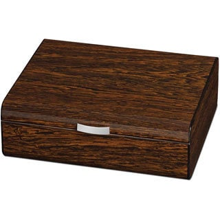 Visol Study Ironwood Finish Small Humidor for Occasional Cigar Smoker (Holds 25 Cigars)